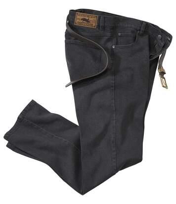 Comfortabele grijze stretch jeans
