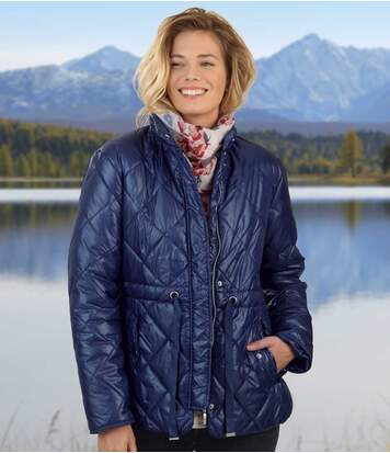 Women's Navy Blue Padded Jacket