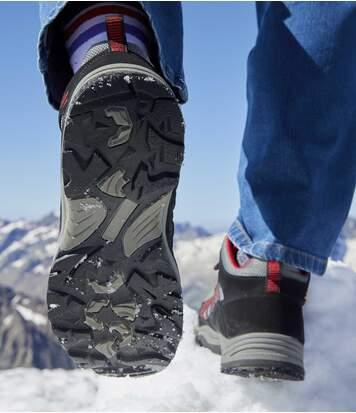 Men's Black & Grey Team Trek Hiking Boots - Water-Repellent