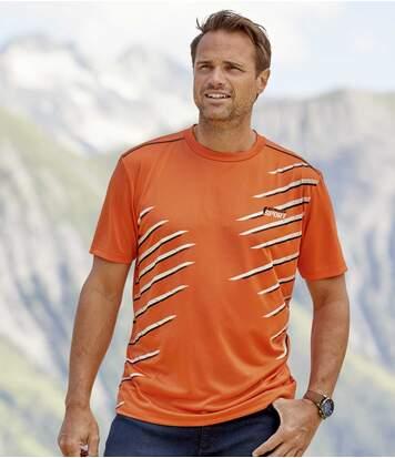 Súprava 3 športových tričiek sgrafickou potlačou