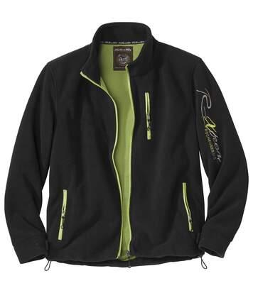 Men's Black Fleece Full Zip Jacket