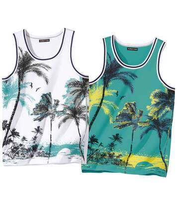 2er-Pack Tanktops Palm Beach