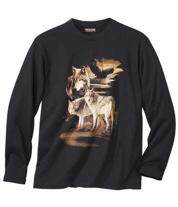 T-shirt z długimi rękawami Wilki
