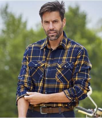 Geruit overhemd van flanel American Ranch