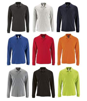 Lot 9 polos manches longues HOMME - multicolore