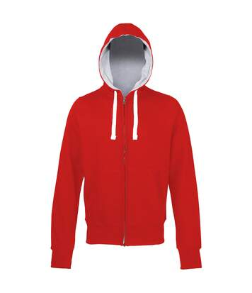 Awdis - Sweatshirt À Capuche Et Fermeture Zippée - Homme (Rouge feu) - UTRW181