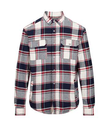 Regatta Mens Tygo Long Sleeved Checked Lined Shirt (Navy) - UTRG4601
