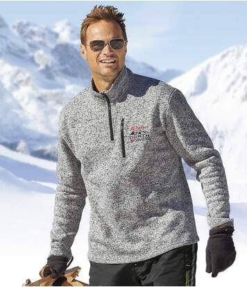Men's Grey North Snow Fleece Pullover