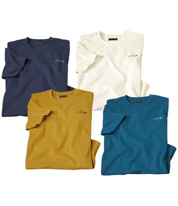 Lot de 4 Tee-Shirts Col Rond