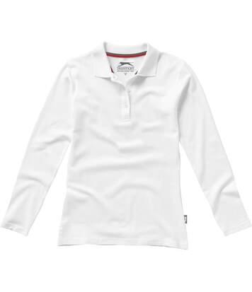 Slazenger Point - Polo À Manches Longues - Femme (Blanc) - UTPF1745