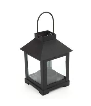 Lanterne Métal Photophore 11cm Noir