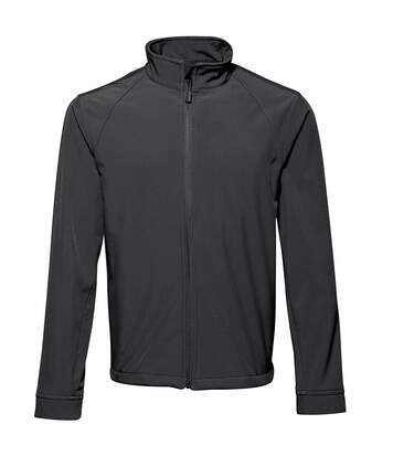 2786 Mens 3 Layer Softshell Performance Jacket (Windproof & Water Resistant) (Black) - UTRW2502