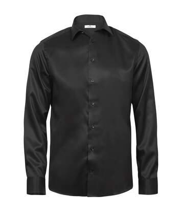 Tee Jays Mens Luxury Comfort Fit Long Sleeve Oxford Shirt (Black) - UTPC3477
