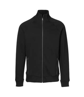 ID Mens Fitted Full Zip Fleece Jacket (Black) - UTID389