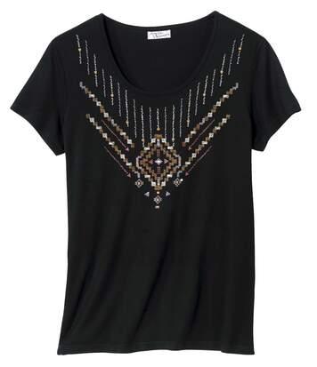 Tunika s ozdobným motivem ve tvaru náhrdelníku