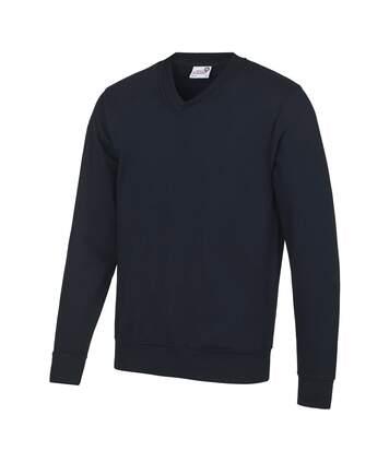 Awdis Academy - Pull Col V - Homme (Bleu marine) - UTRW3923
