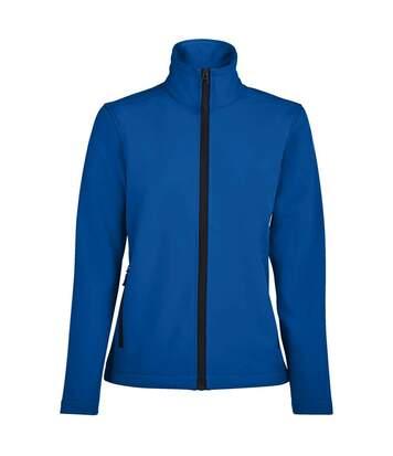 SOLS Womens/Ladies Race Full Zip Water Repellent Softshell Jacket (Royal Blue) - UTPC2426