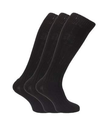 Chaussettes Hautes Rembourrées En Mélange De Laine (Lot De 3 Paires) - Homme (Noir) - UTMB160
