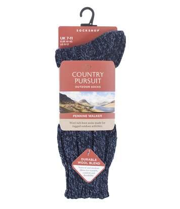 Mens Heavy Kntted Wool Hiking Socks for Walking