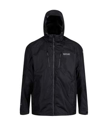 Regatta Mens Calderdale III Waterproof Jacket With Concealed Hood (Black) - UTRG4160