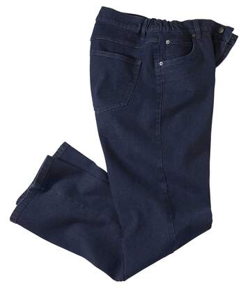 Donkerblauwe stretch jeans