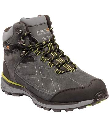 Regatta Mens Samaris Suede Hiking Boots (Briar/Lime Green) - UTRG3661