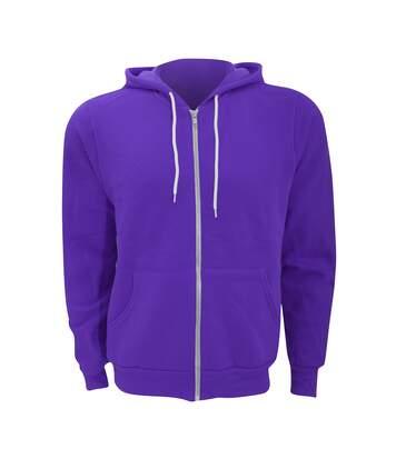 Canvas Unixex Zip-up Polycotton Fleece Hooded Sweatshirt / Hoodie (Team Purple) - UTBC1337