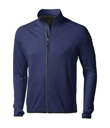 Elevate Mens Mani Power Fleece Full Zip Jacket (Navy) - UTPF1942