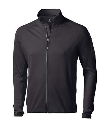 Elevate Mens Mani Power Fleece Full Zip Jacket (Solid Black) - UTPF1942