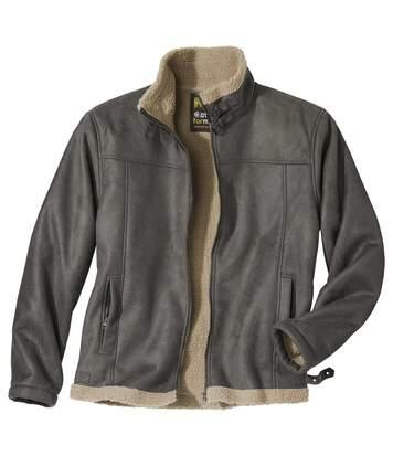 Sherpa bélésű művelúr kabát