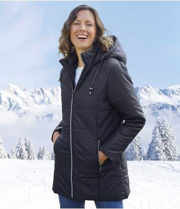 Women's Navy Padded Coat