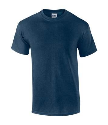 Gildan Mens Ultra Cotton Short Sleeve T-Shirt (Heather Navy) - UTBC475