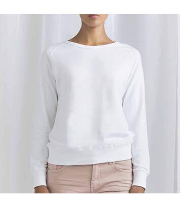 Sweat coton biologique femme blanc S - Marshall Island