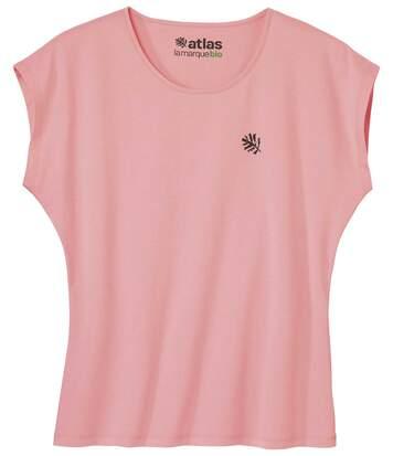Le Tee-Shirt Femme Sans Manches Coton Bio Rose Saumon