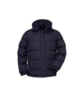 B&C Mens Cocoon Padded Hooded Full Zip Jacket (Navy) - UTRW3516