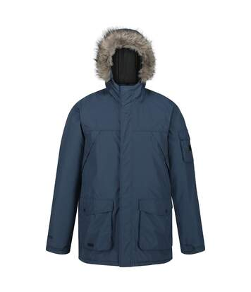 Regatta Mens Salinger II Faux Fur Insulated Parka (Dark Denim) - UTRG5301