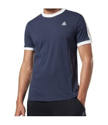 T shirt Marine Homme Reebok Graphic
