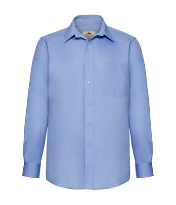 Fruit Of The Loom Mens Long Sleeve Poplin Shirt (Navy) - UTBC405