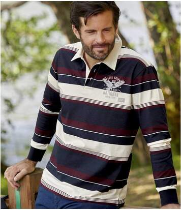 Men's Pack of 4 Long Sleeve Sporty Polo Shirts