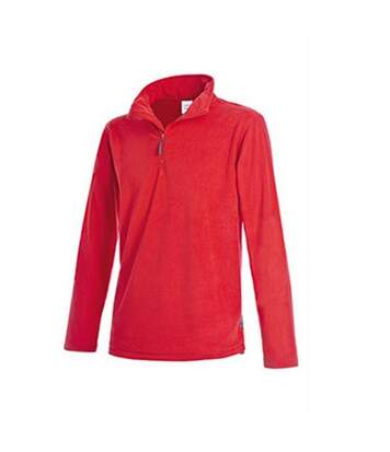 Stedman Mens Active Half Zip Fleece (Scarlet Red) - UTAB291