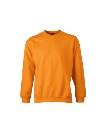 Sweat-shirt col rond - JN040 - orange - mixte homme femme