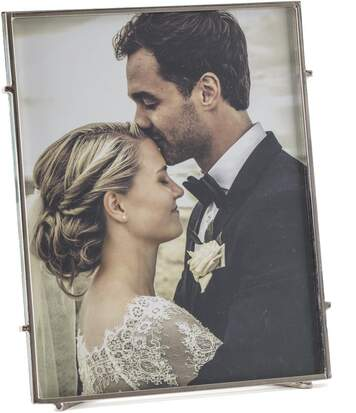 Cadre photo à poser en métal Square 20x25 cm