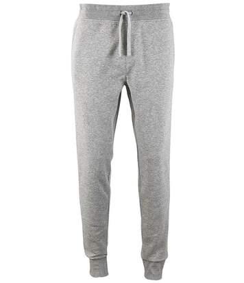 Pantalon jogging homme coupe slim - homme - 02084 - gris chiné
