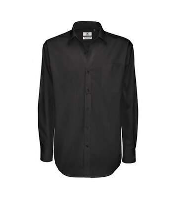 B&C Mens Sharp Twill Cotton Long Sleeve Shirt / Mens Shirts (Dark Grey) - UTBC113