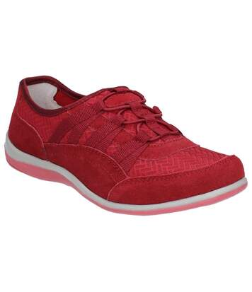 Fleet & Foster Womens/Ladies Dahlia Suede Leather Slip On Shoes (Red) - UTFS6060