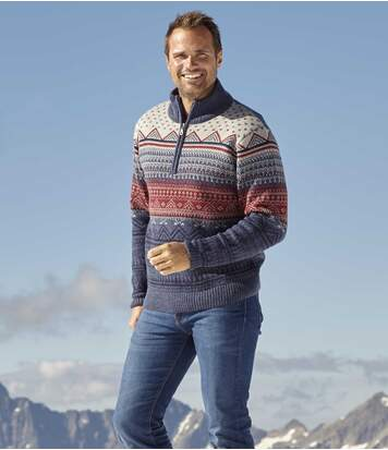 Men's Knitted Jacquard Jumper