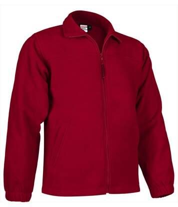 Veste polaire zippée - Homme - REF DAKOTA - rouge