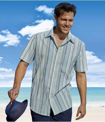 Рубашка из Крепона в Полоску от Atlas For Men