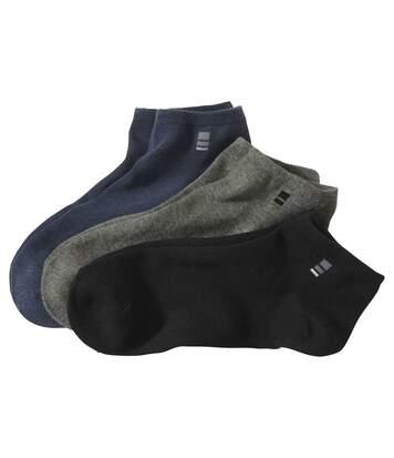 Sada 3 párů kotníkových ponožek