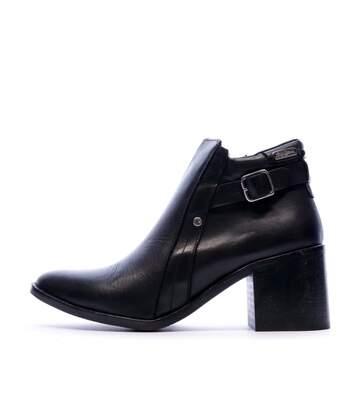 Bottines en cuir noir femme Pepe Jeans